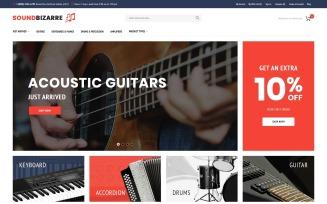 SoundBizarre - Music Store Magento Theme