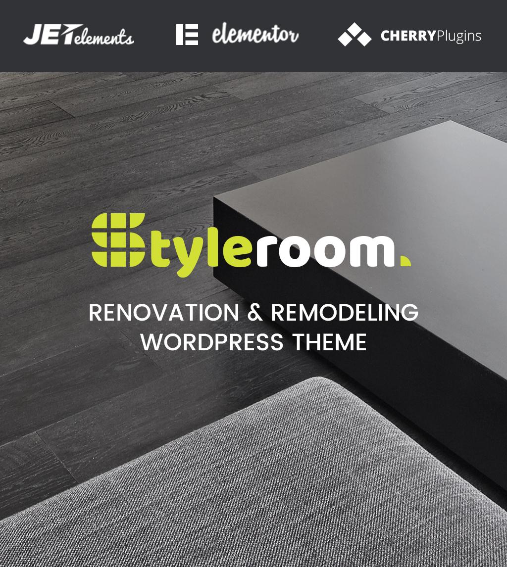 """StyleRoom - House Renovation Responsive WordPress Theme"" - адаптивний WordPress шаблон №64987"
