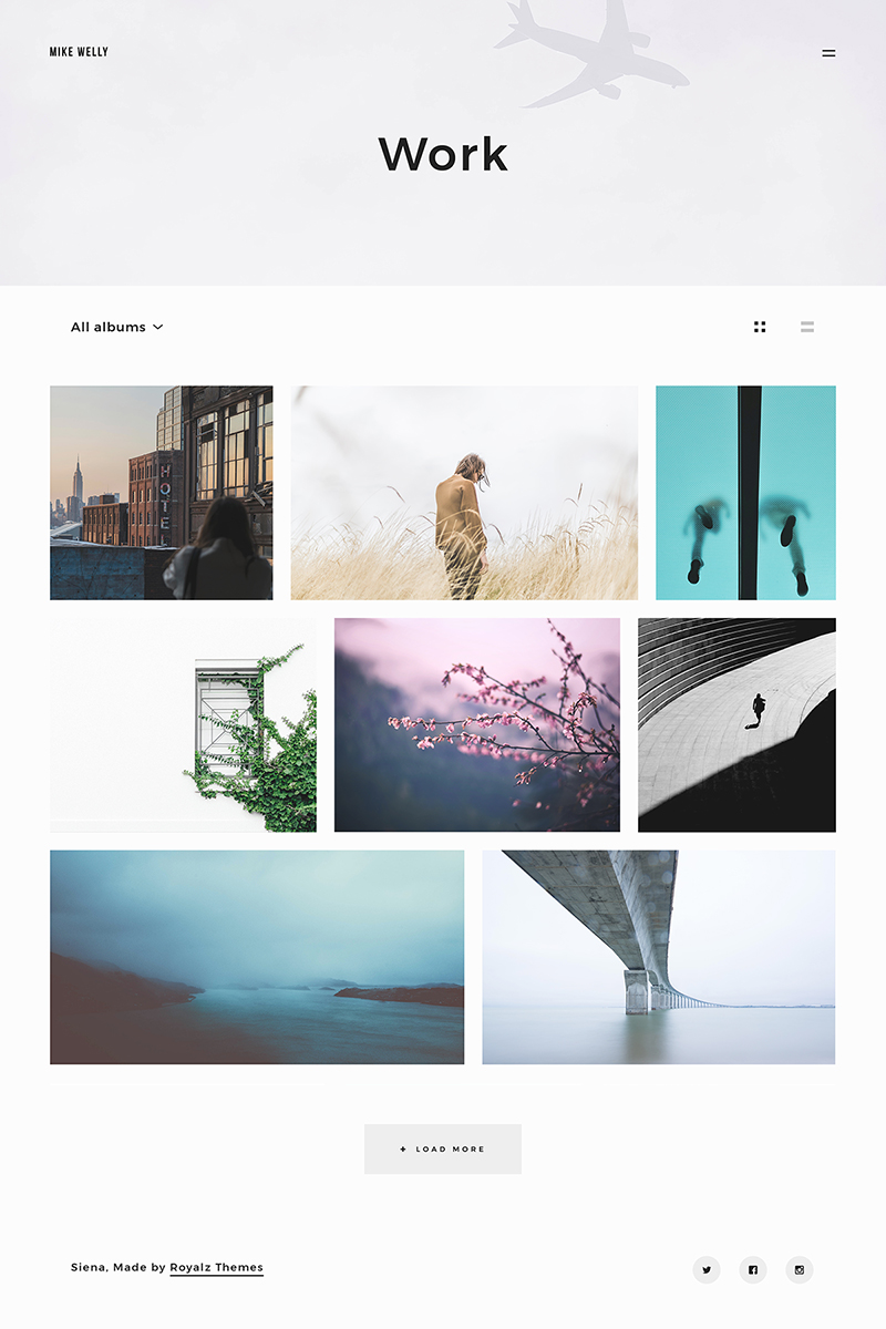 "Tema De WordPress ""Siena - Aesthetic Photography Portfolio"" #64931 - captura de pantalla"