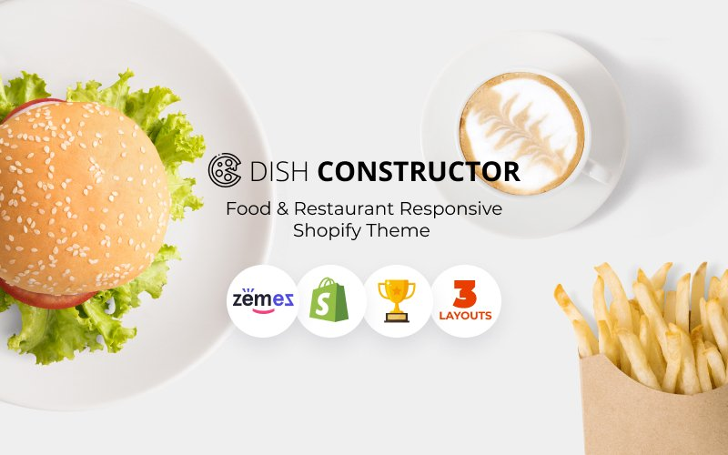 "Tema Shopify ""Food & Restaurant Responsive"" #64928"