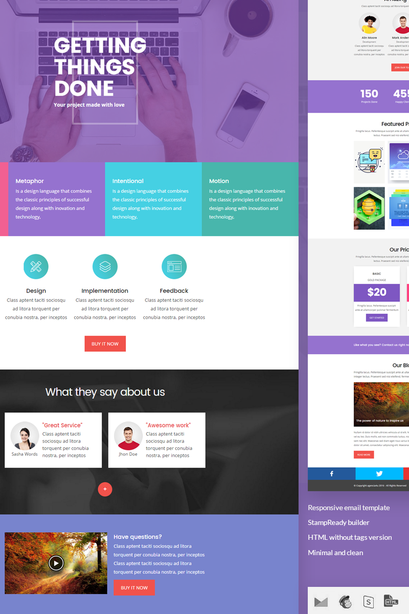 Wave - StampReady Builder + Responsive Newsletter Template