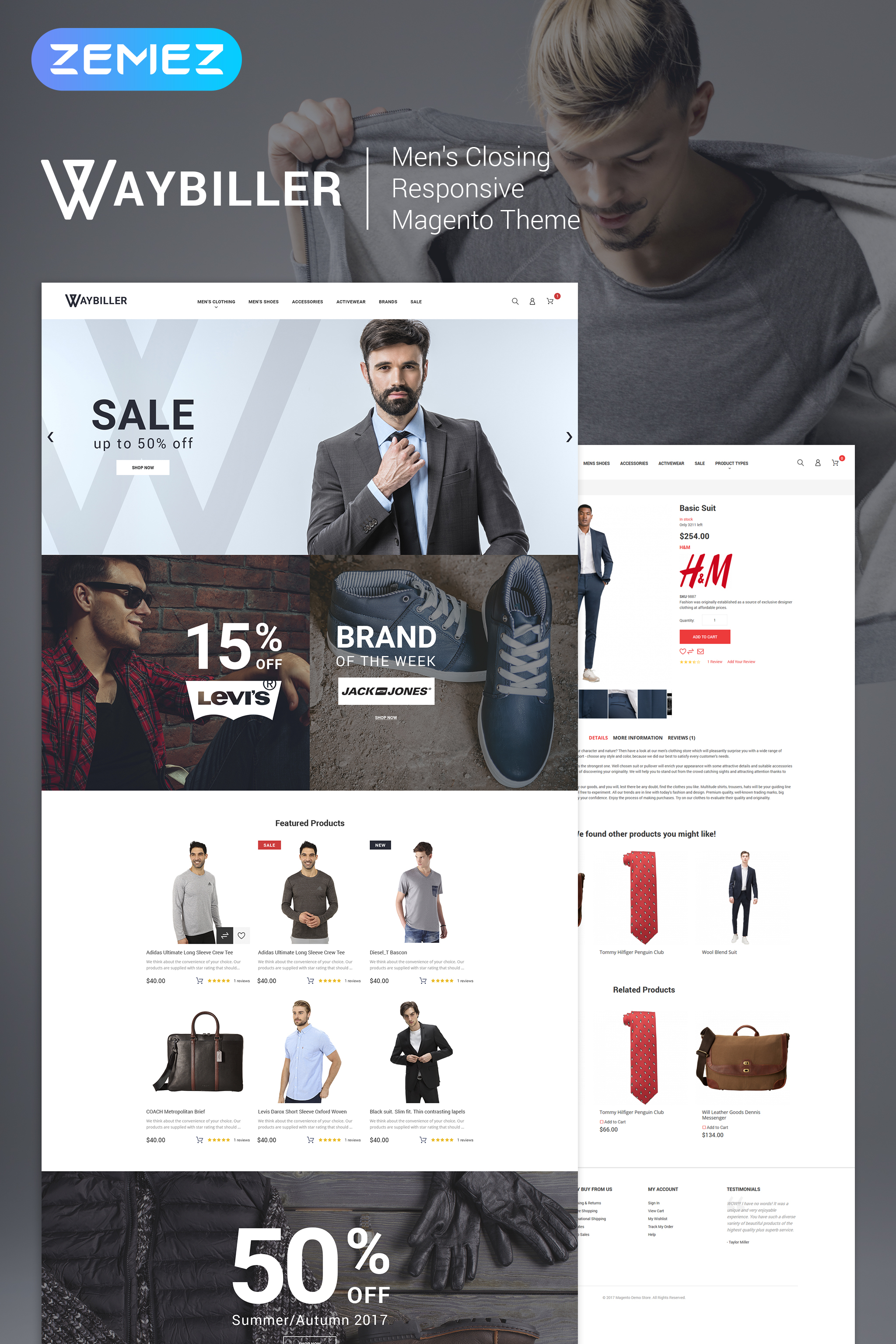 Waybiller - Men's Closing Magento Theme
