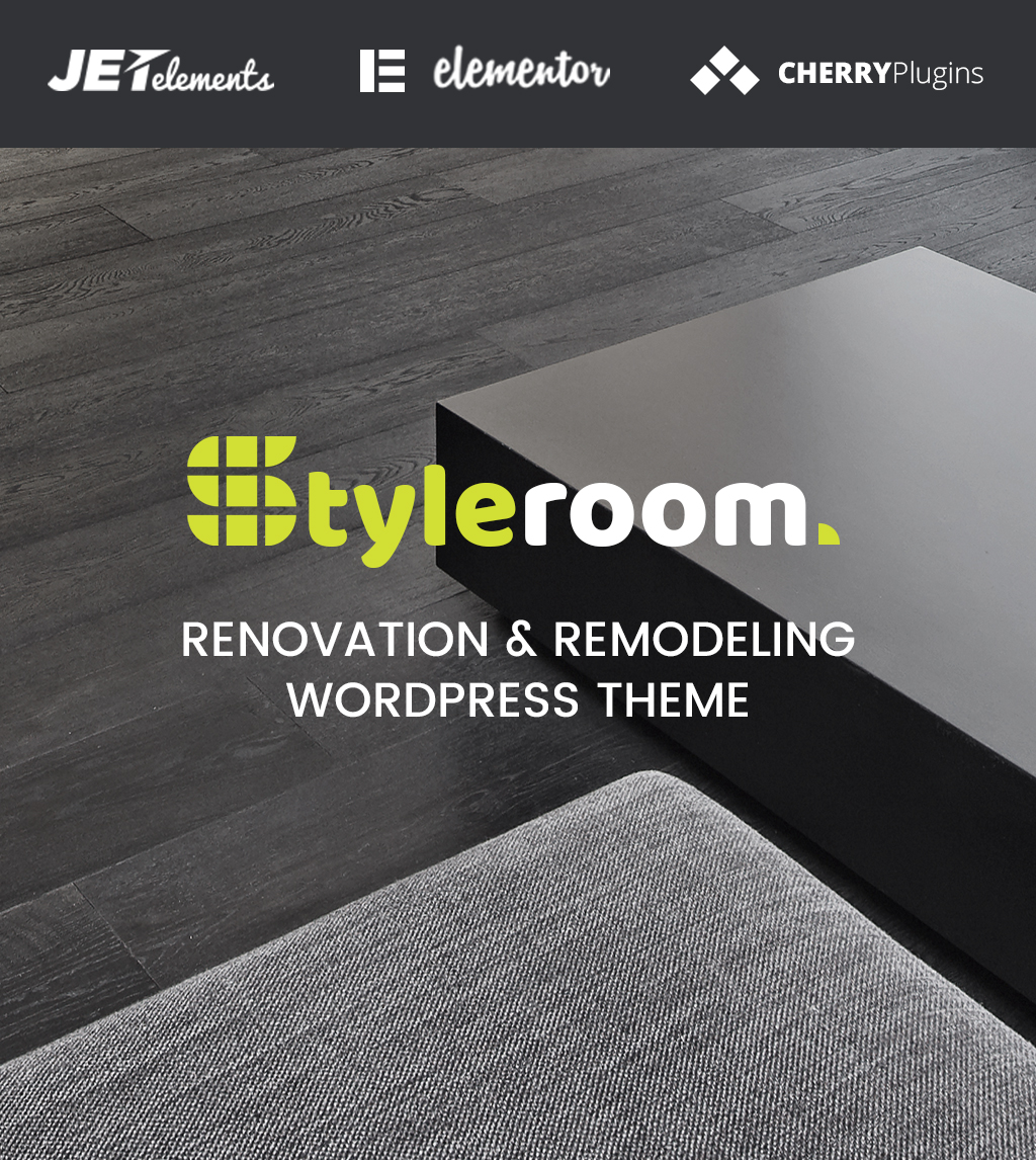 "WordPress Theme namens ""StyleRoom - House Renovation Responsive WordPress Theme"" #64987"
