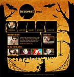 Flash: ArtWorks Personal Pages Flash Site Halloween Templates Halloween Templates