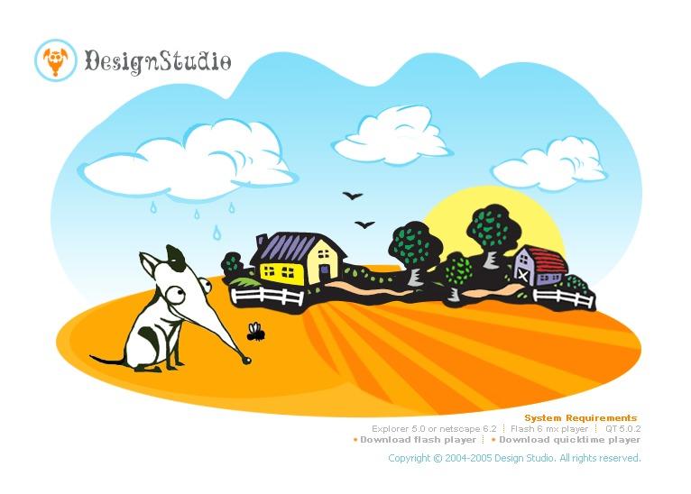 Tema flash 6544 per un sito di design studio for Sito di design