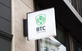 BTC Crypto - Bitcoin Trading Company Business Logo