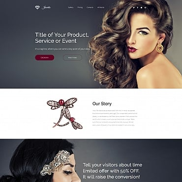 Preview image of Jewelry Landing Page Template No. 65023