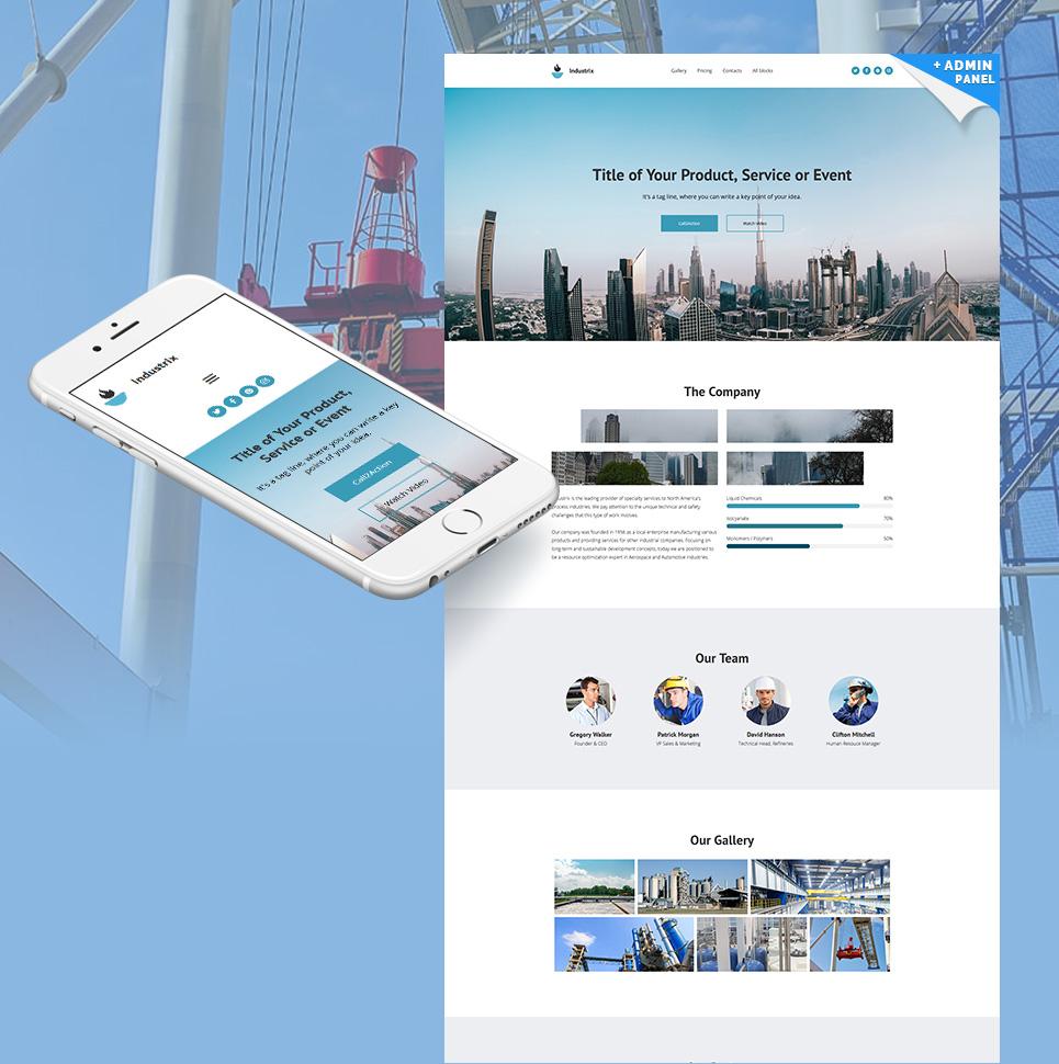 Plantilla web landing-page ideal para Industrial - Ahora por menos ...