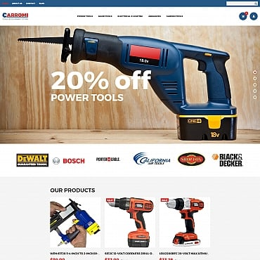 Preview image of Tools & Equipment MotoCMS Ecommerce Template No. 65062