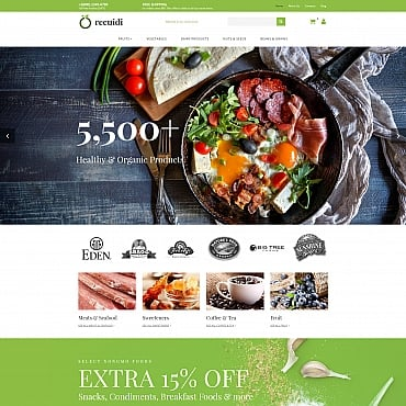 Preview image of Food & Drink MotoCMS Ecommerce Template No. 65065