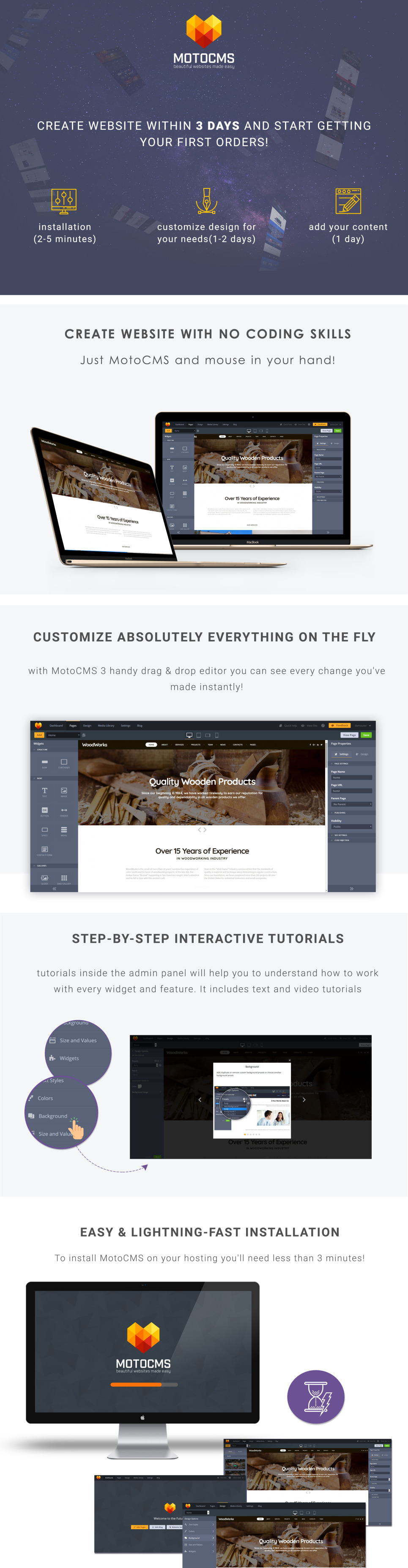 Woodworking Website Template For Furniture Factory Sites Motocms