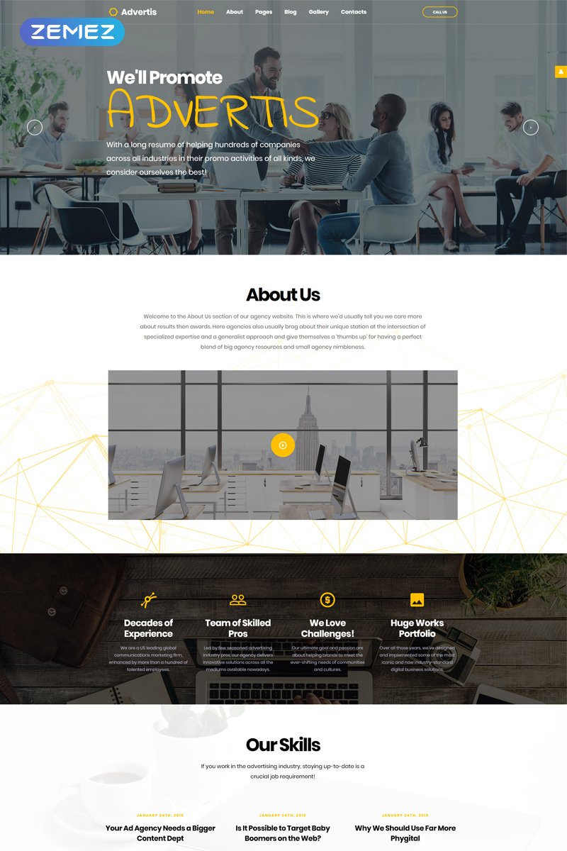 Advertis - Advertising Agency Clean Responsive Joomla Template
