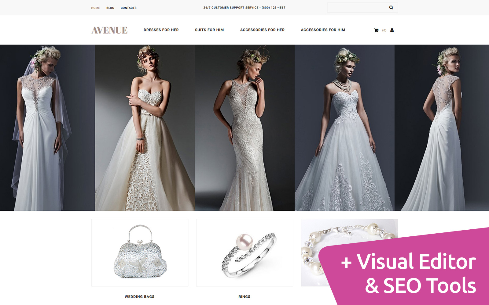 Avenue - Dress Shop MotoCMS Ecommerce Template