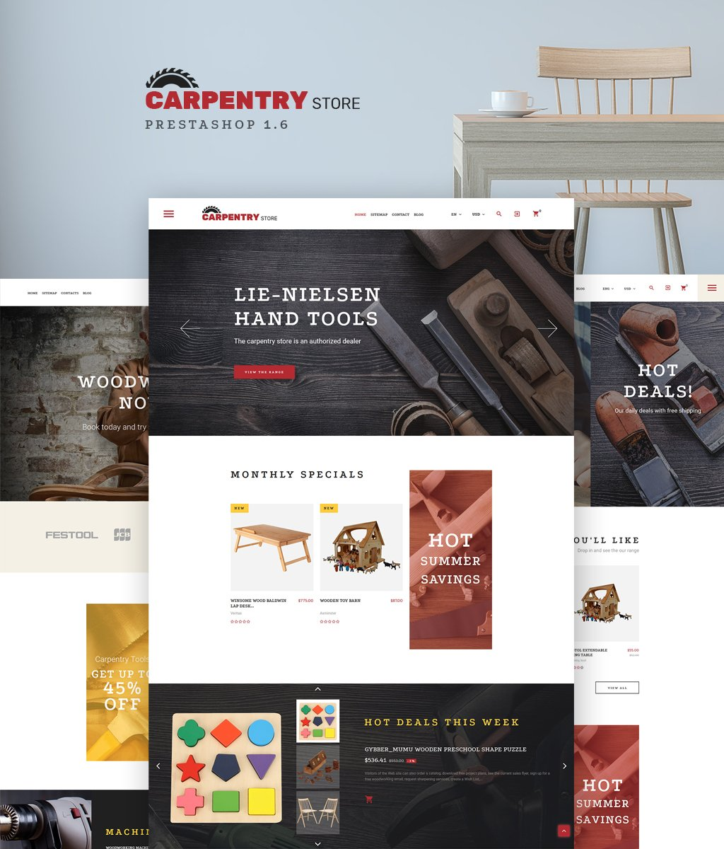 Carpentry Store PrestaShop Theme