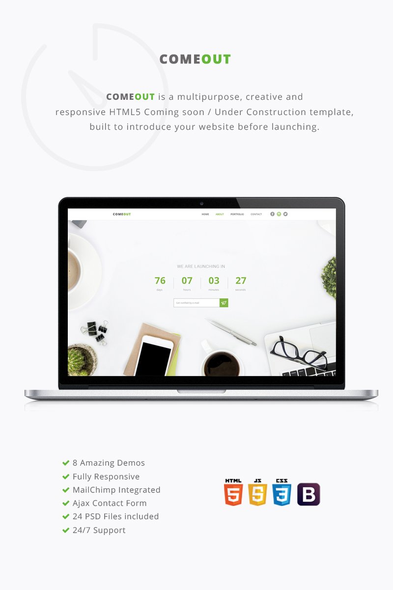 ComeOut - Multipurpose Coming Soon Website Template