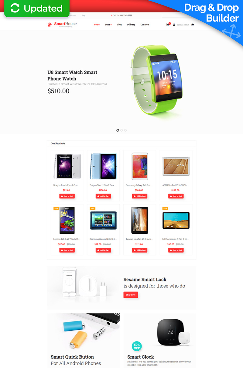 Electronics Store Responsive MotoCMS Ecommerce Template - screenshot