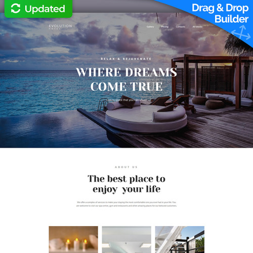 Evolution - Hotel MotoCMS 3 - Landing Page Template based on Bootstrap