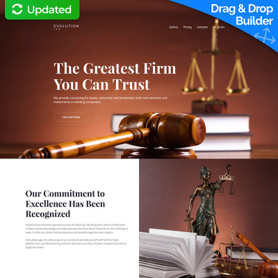 Evolution - Lawyer MotoCMS 3 Landing Page Template Landing Page Template #65033