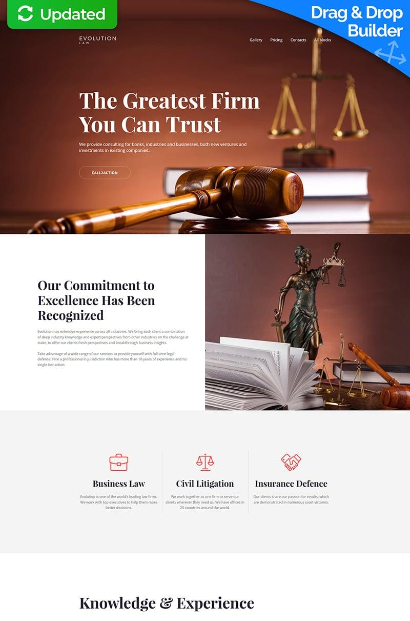 Evolution - Lawyer MotoCMS 3 Landing Page Template