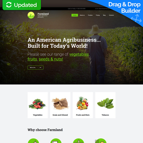 Farm - MotoCMS 3 Template based on Bootstrap