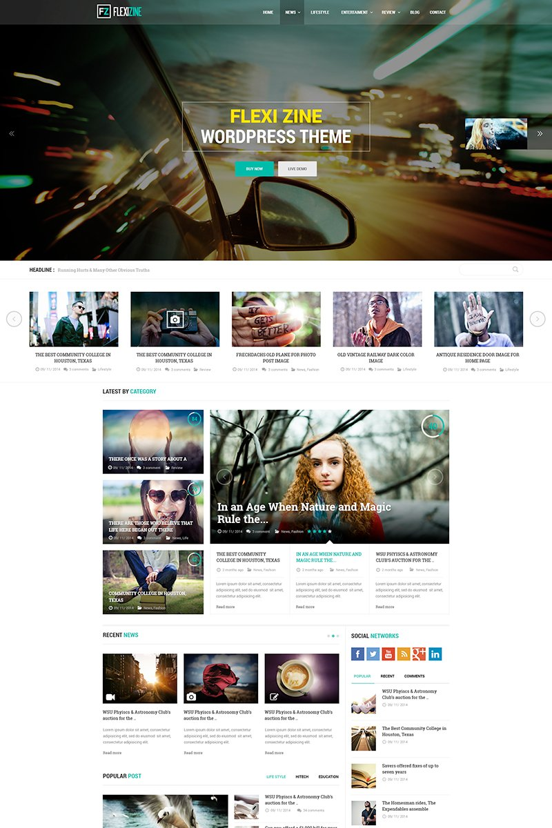 """Flexi - Blog, Personal and News"" PSD Template №65003"