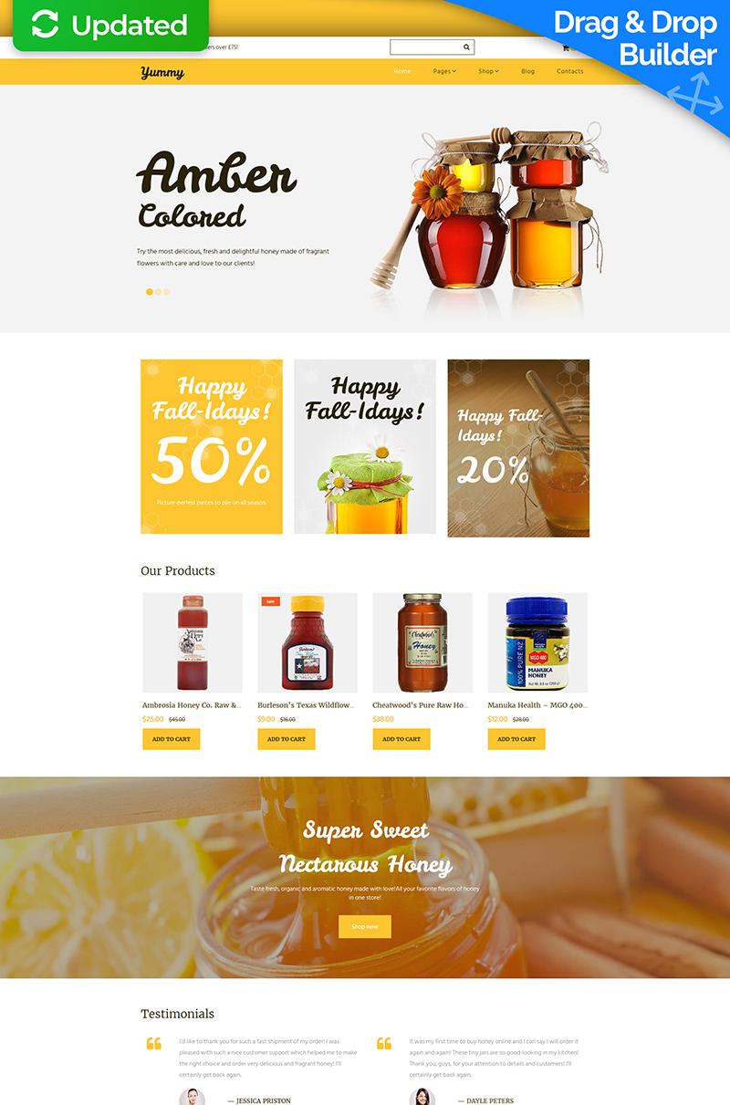 Honey Store Responsive MotoCMS Ecommerce Template