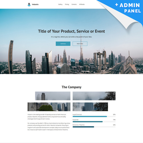 Industrix - MotoCMS 3 - Landing Page Template based on Bootstrap