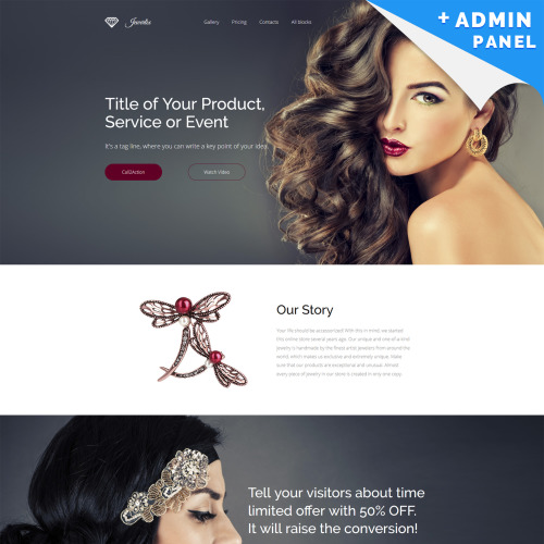 Jewelry - Landing Page Template based on Bootstrap