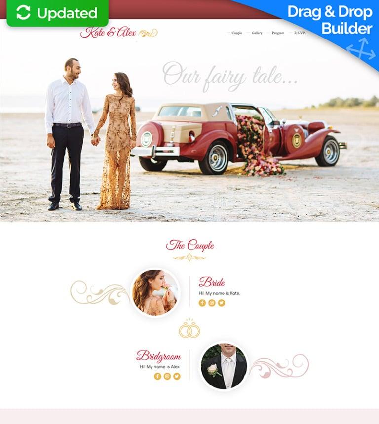 wedding planner responsive landing page template 65021