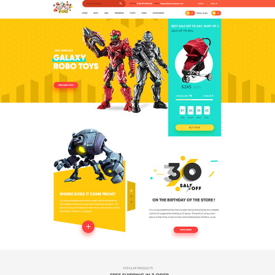 Day Care Psd Templates