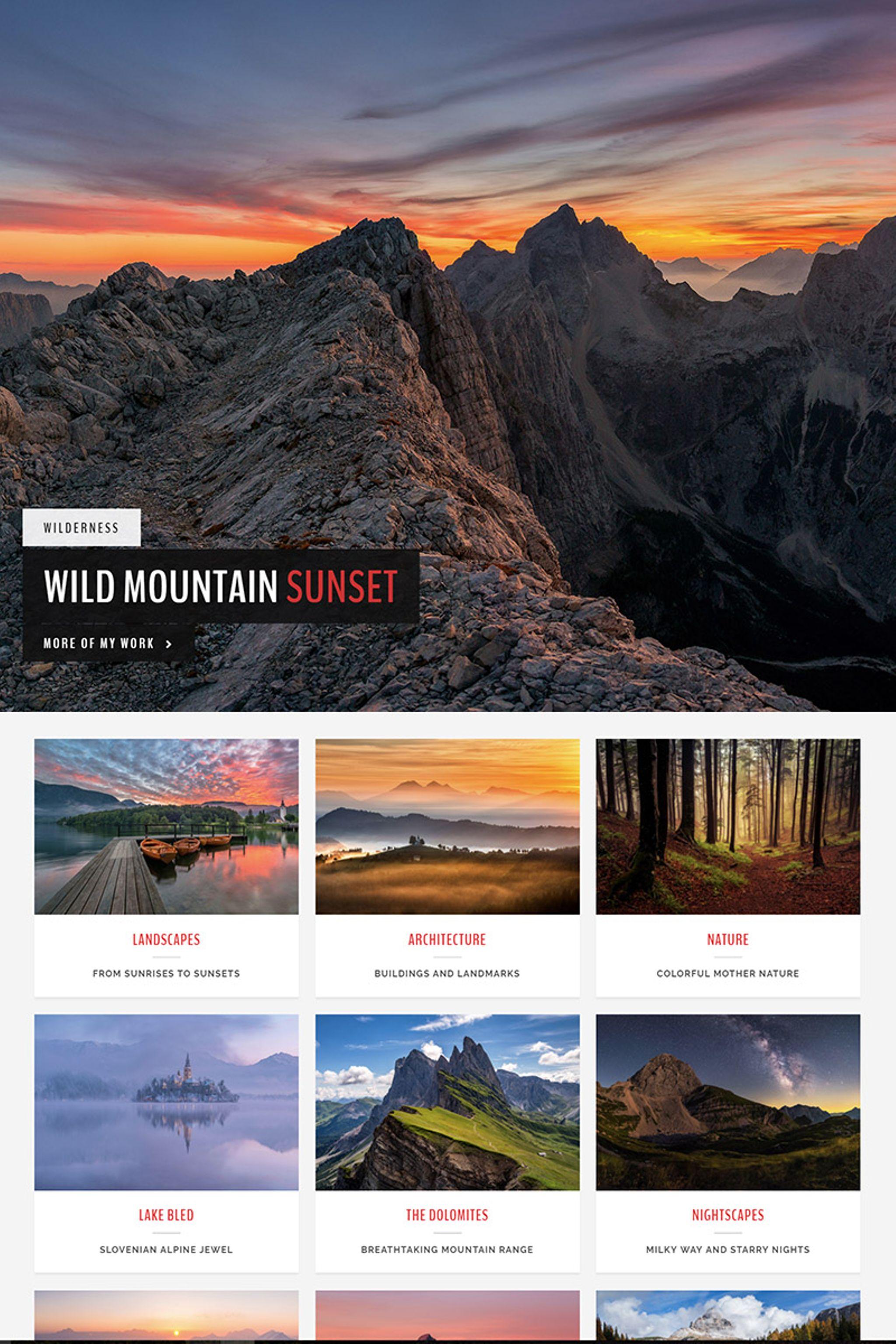 Landscape - A Photography WordPress Theme - screenshot