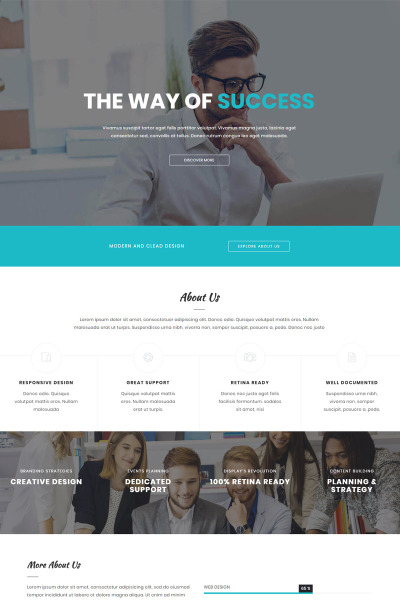 Othelo - Multipurpose Onepage Bootstrap Landing Page Template #65008