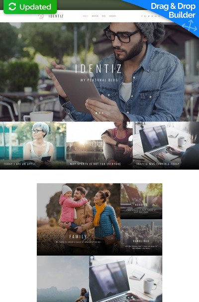 Personal Page Responsive Moto CMS 3 Template #65081