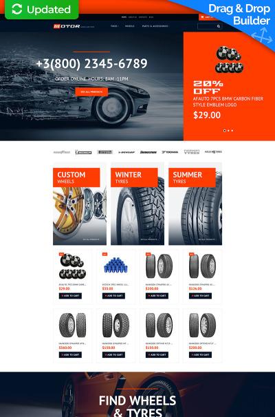 Responsive Plantilla MotoCMS Para Comercio Electrónico #65057 para Sitio de  para Sitio de Ruedas y neumáticos