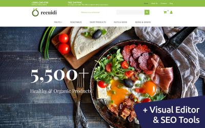 Responsive Plantilla MotoCMS Para Comercio Electrónico #65065 para Sitio de  para Tienda de Comestibles