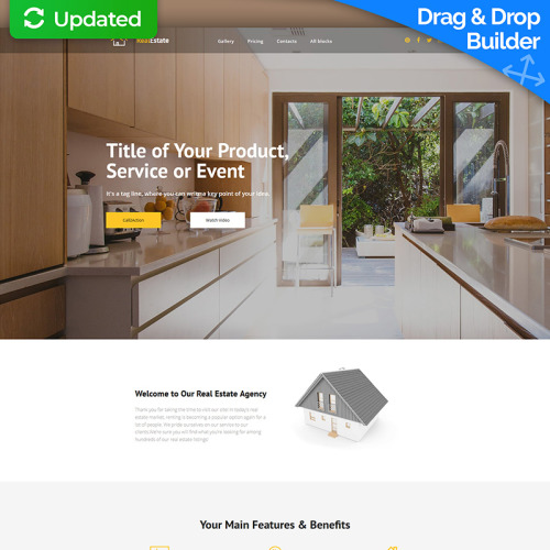 RealEstate MotoCMS 3 - Landing Page Template based on Bootstrap