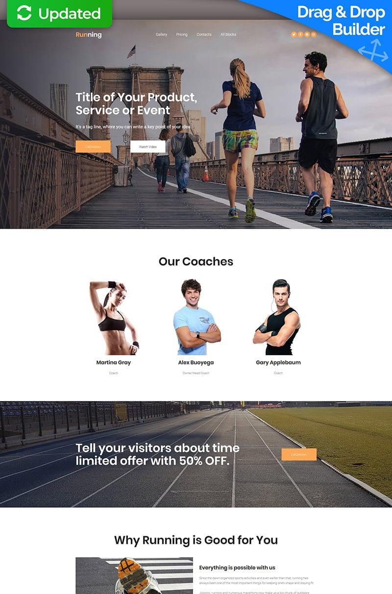Responsive Koşu Açılış Sayfası #65024 - Ekran resmi