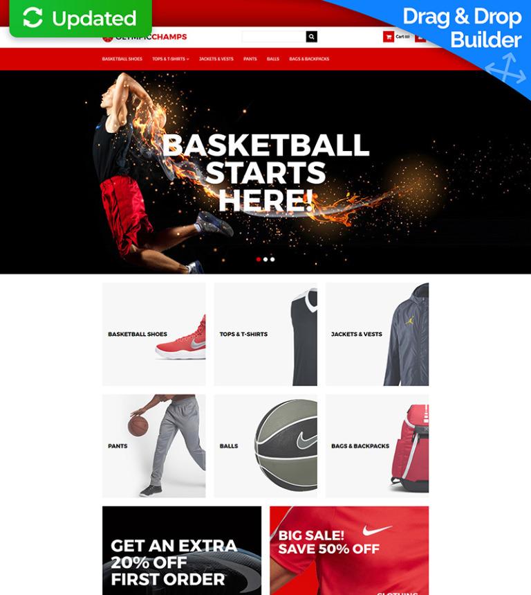 MotoCMS E-Commerce Vorlage #65069 für Basketball
