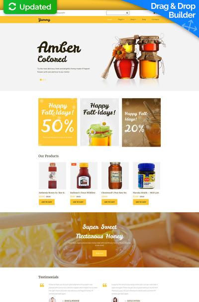 Honey Store Responsive MotoCMS Ecommercie Template