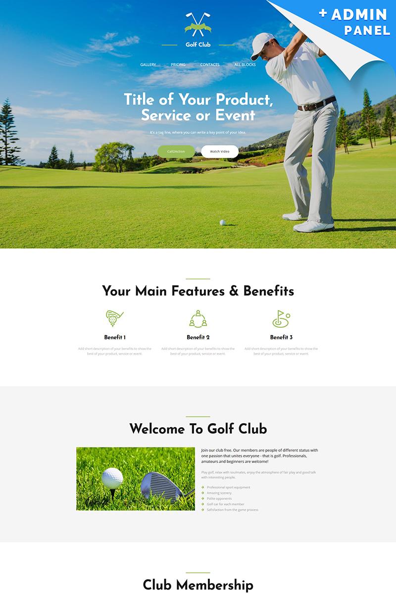 Landing Page Template #65038 für Golf