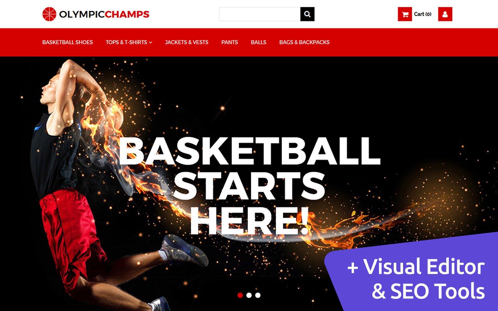 Responsivt OlympicChamps - Basketball MotoCMS Ecommerce-mall #65069