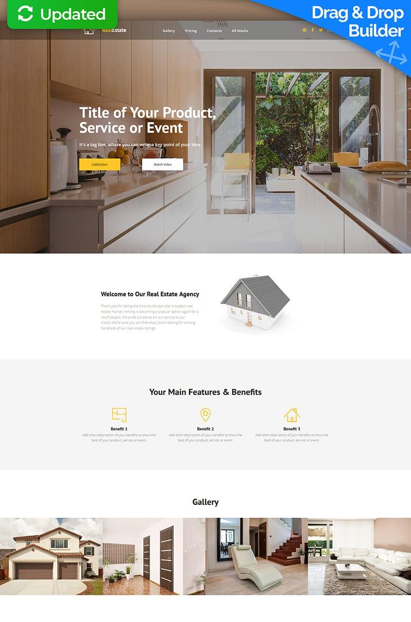 Responsivt RealEstate MotoCMS 3 Landing Page-mall #65028 - skärmbild