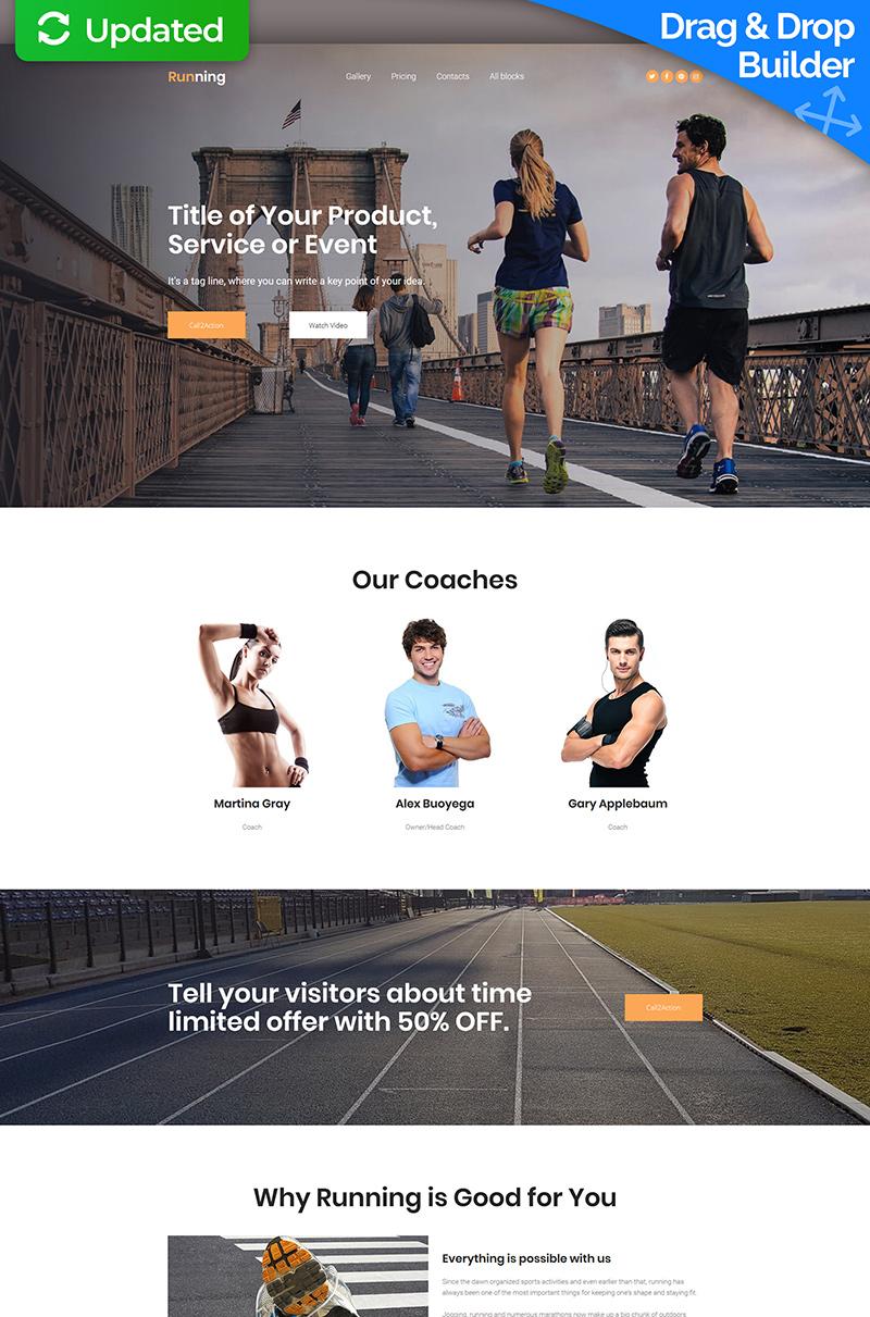 Responsywny szablon Landing Page #65024 na temat: bieganie