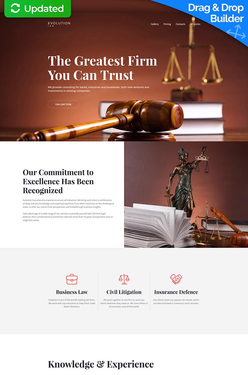 Responsywny szablon Landing Page Evolution - Lawyer MotoCMS 3 #65033