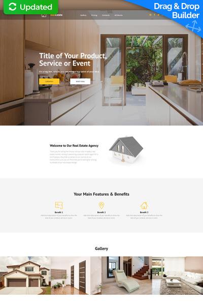 Responsywny szablon Landing Page RealEstate MotoCMS 3 #65028 #65028