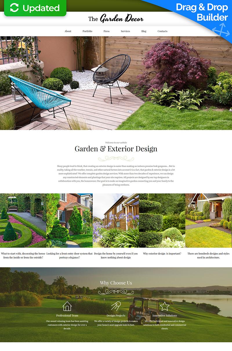 Responzivní Moto CMS 3 šablona na téma Design zahrady #65084 - screenshot