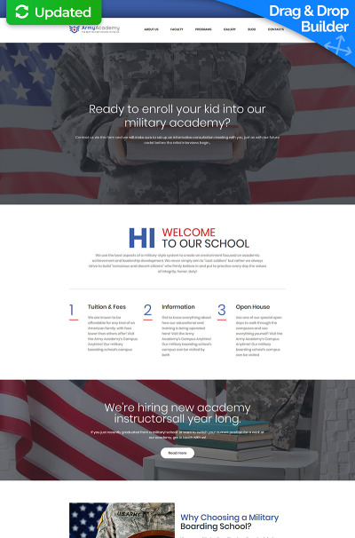 Veterans Responsive Moto CMS 3 šablona