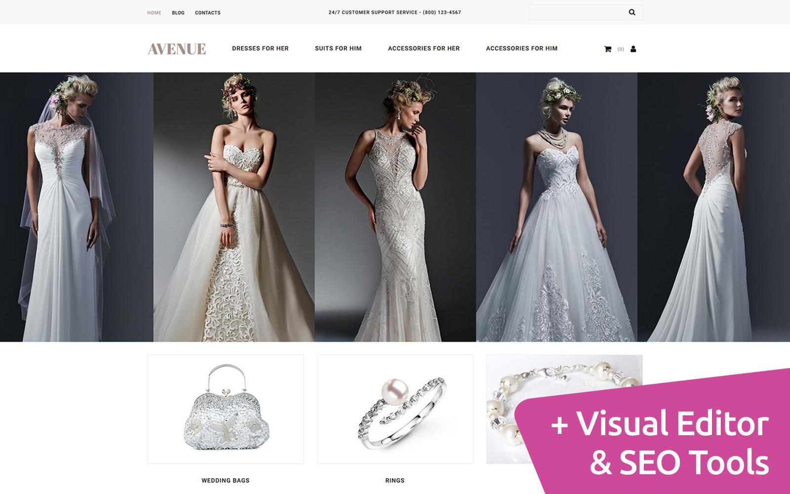 """Responzivní MotoCMS Ecommerce šablona """"Avenue - Dress Shop"""" #65054"""