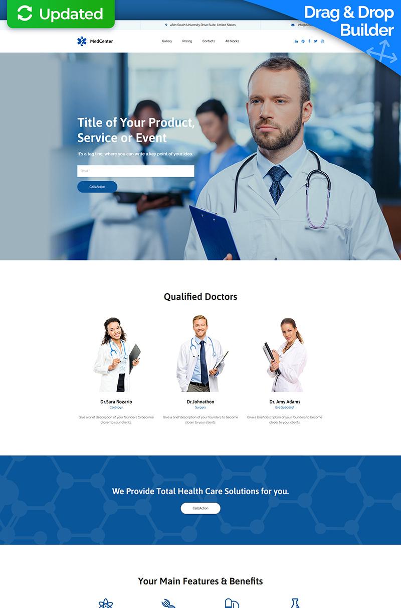 Reszponzív MedCenter MotoCMS 3 Nyítóoldal sablon 65030