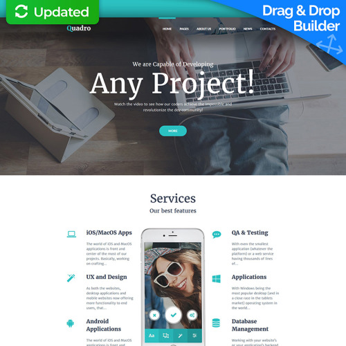 Software Company - MotoCMS 3 Template based on Bootstrap